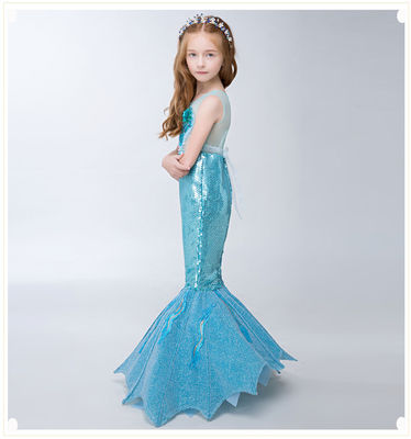 China High Elasticity Little Mermaid Fish Tail Costume Durable Fade Resistant Fabric factory