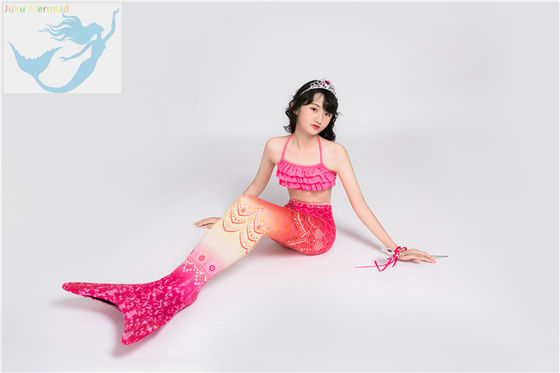 China Womens Swimmable Mermaid Tails , Toddler Mermaid Tail For Swimming factory