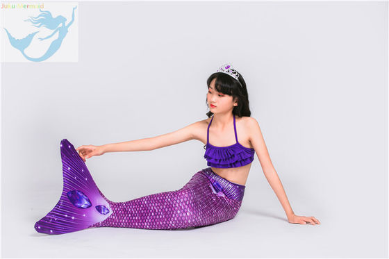 China 3D Printing Swimmable Mermaid Tails For Kids / Adults Spandex Polyester Material factory
