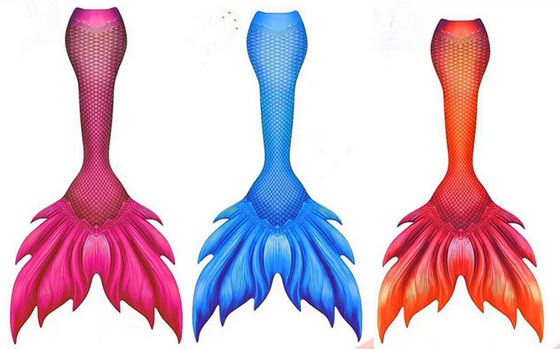 Spandex And Polyester Adults Mermaid Tail For Swimming With Monofin