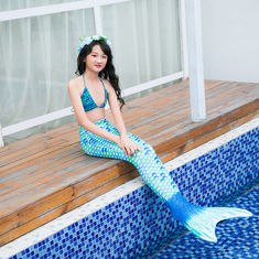 S M L Adult Mermaid Tail Swimsuit With Monofin , Mermaid Bikini Bathing Suit
