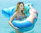 Heavy Duty Inflatable Mermaid Tail , Inflatable Pool Raft Beautiful Shape supplier
