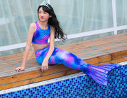 Stretchy Childrens Mermaid Tails Anti - UV 3D Colorful Printing Fabric supplier