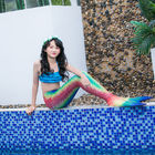 Girls Sparkle Mermaid Tails For Swimming / Photo Shooting Water - Resistant supplier