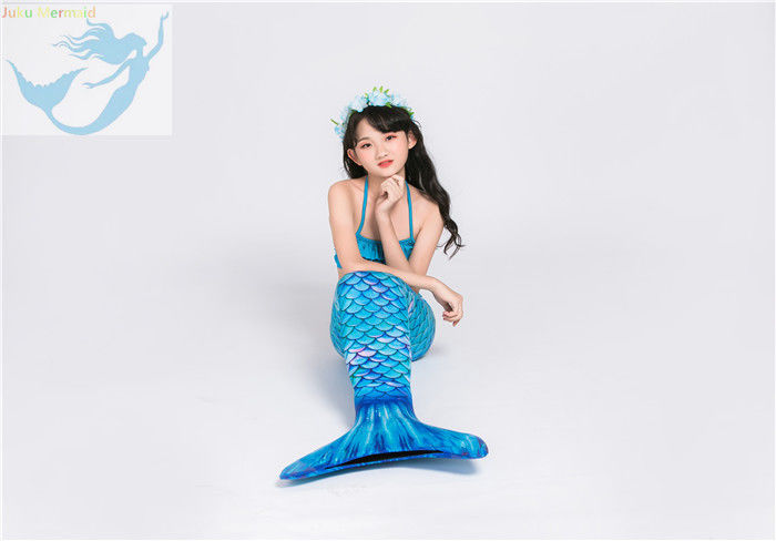 Anti -UV Realistic Looking Mermaid Tails Aqua Color Lasting Long Time supplier