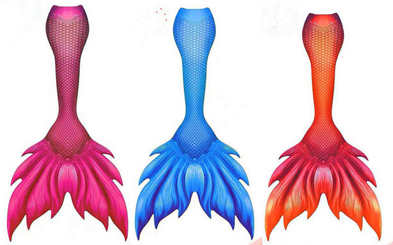 Spandex And Polyester Adults Mermaid Tail For Swimming With Monofin supplier