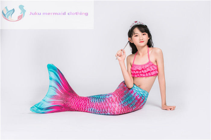 Mermaid Tail Fin Monofin Swimmable Costume For Swimming With Fin Size For 6Y Up supplier