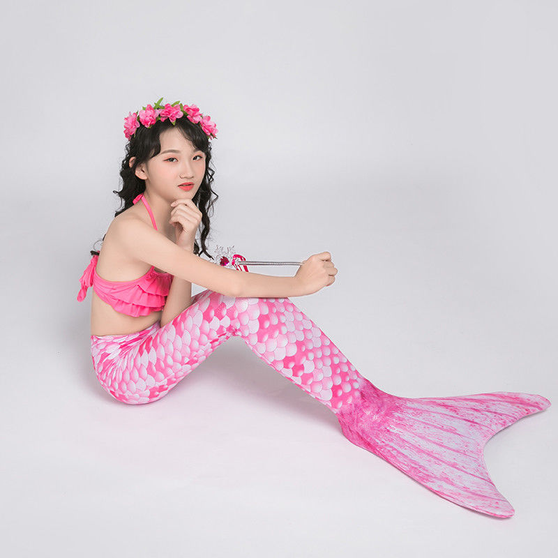Pink And Blue Mermaid Tails For Swimming / Beach Holiday Mermaid Swimsuit supplier