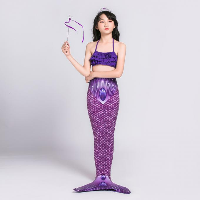 3D Scales Printed Ladies Mermaid Tail , Adult Mermaid Tail With Monofin