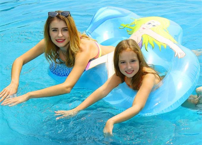 Heavy Duty Inflatable Mermaid Tail , Inflatable Pool Raft Beautiful Shape