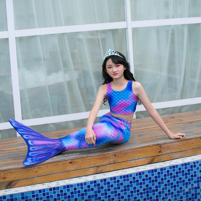 Breathable 80% Nylon + 20 Spandex Mermaid Tail For Swimming Party Toddler 110 120