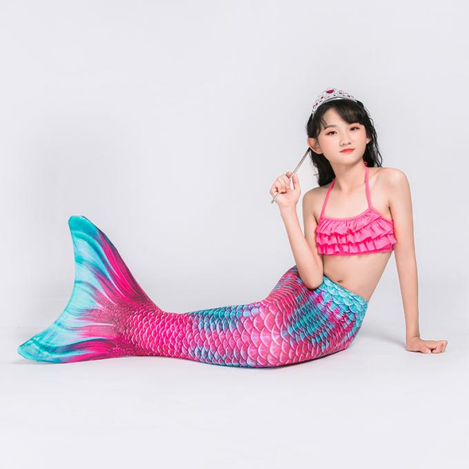Mermaid Tail Fin Monofin Swimmable Costume For Swimming With Fin Size For 6Y Up