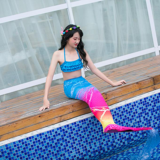 Breathable Children's Swimming Mermaid Tail Comfortable Seawater Proof